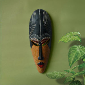 African figure mask head portraits carving wall hangings - Afroish