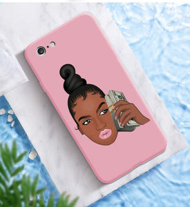 Afroish Money minded Boss Woman iPhone Case - Afroish