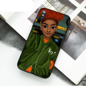 Havana Afro Cartoon  iPhone Cover - Afroish