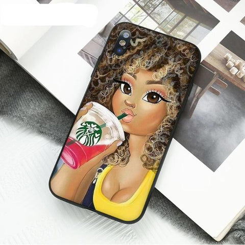 Image of Havana Afro Cartoon  iPhone Cover - Afroish