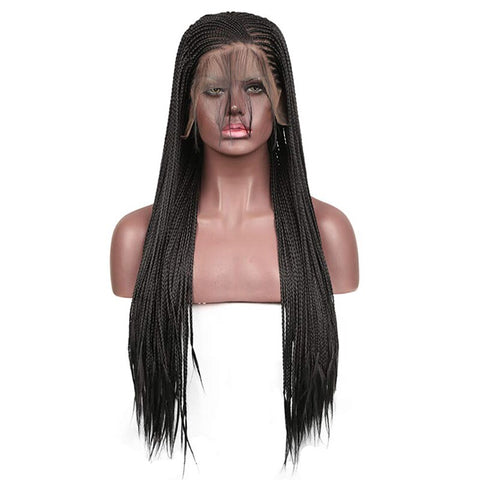 Image of Arima Black Micro Cornrow Lace Front Wigs - Afroish