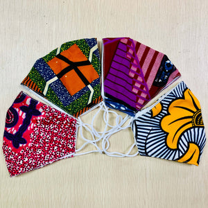 Ankara Print Cotton Face Mask - Afroish