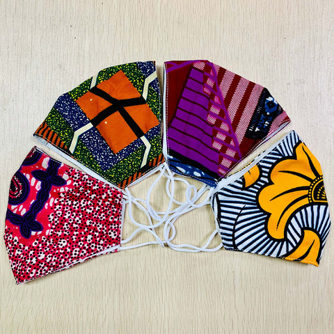 Image of Ankara Print Cotton Face Mask - Afroish