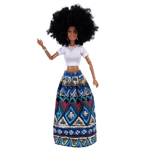 Image of Ho Afro Girl Movable Doll - Afroish
