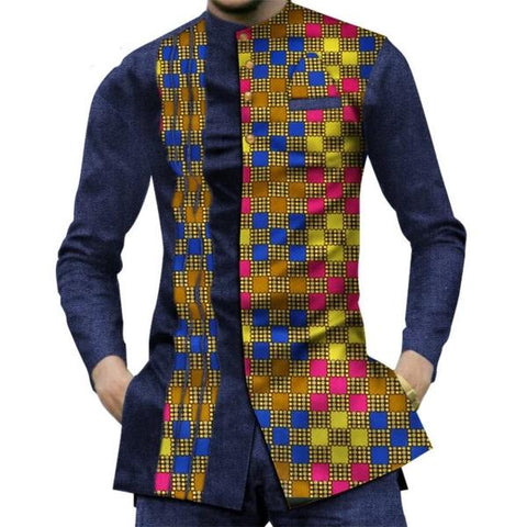 Nakuru Patchwork Shirt For Men - Afroish