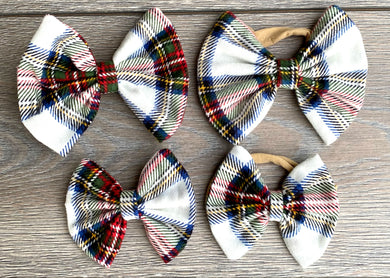 Holiday Plaid Bow