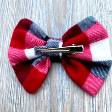 Load image into Gallery viewer, Classic Holiday Plaid Bow