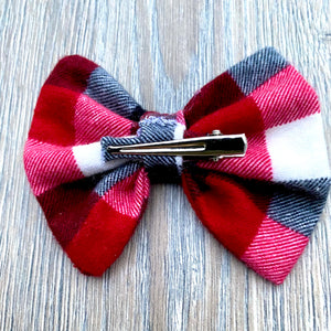 Classic Holiday Plaid Bow