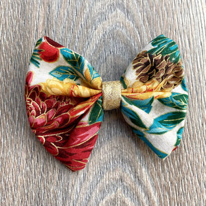 Holiday Floral Bow