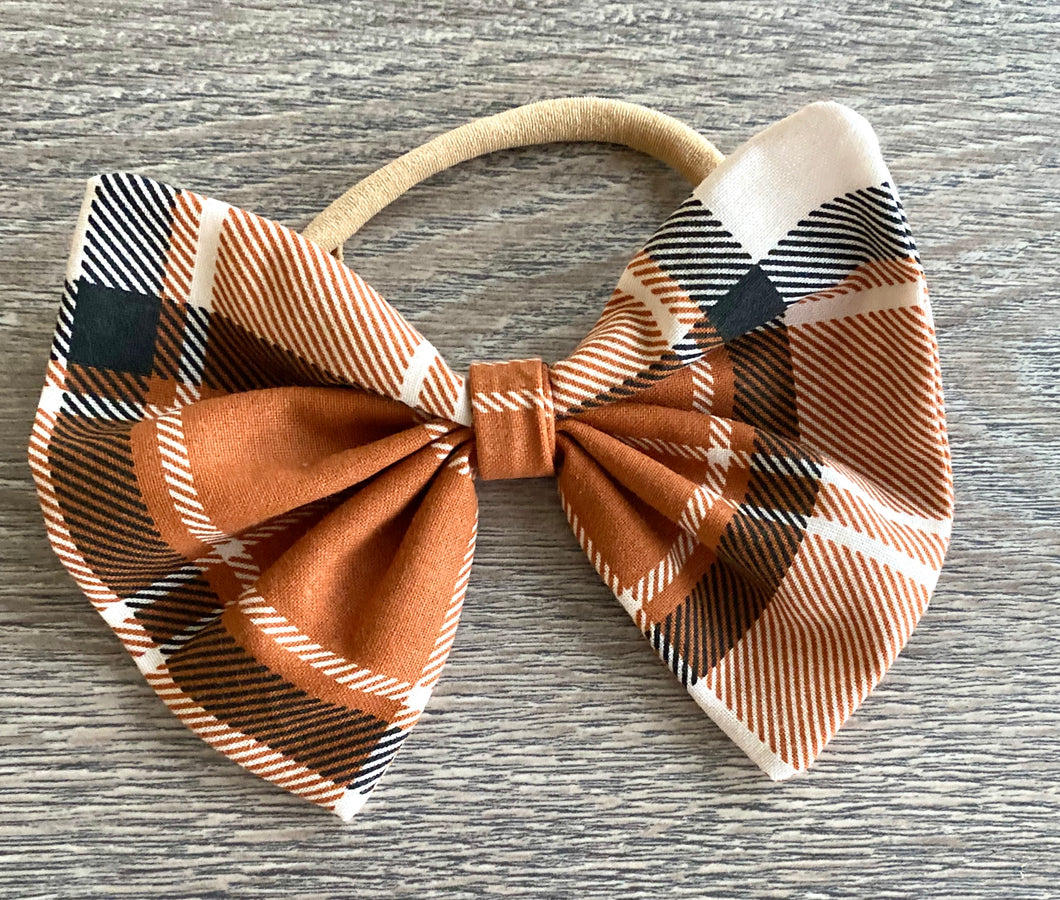 Halloween Plaid Bow