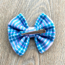 Load image into Gallery viewer, Lilac and Teal Plaid Bow