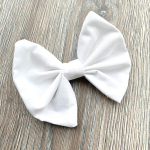 Holiday White Bow