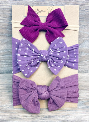 Sugarplum Bow Set