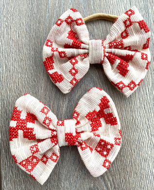 Farmhouse Red Bow