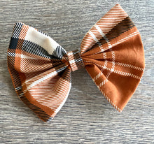 Load image into Gallery viewer, Halloween Plaid Bow