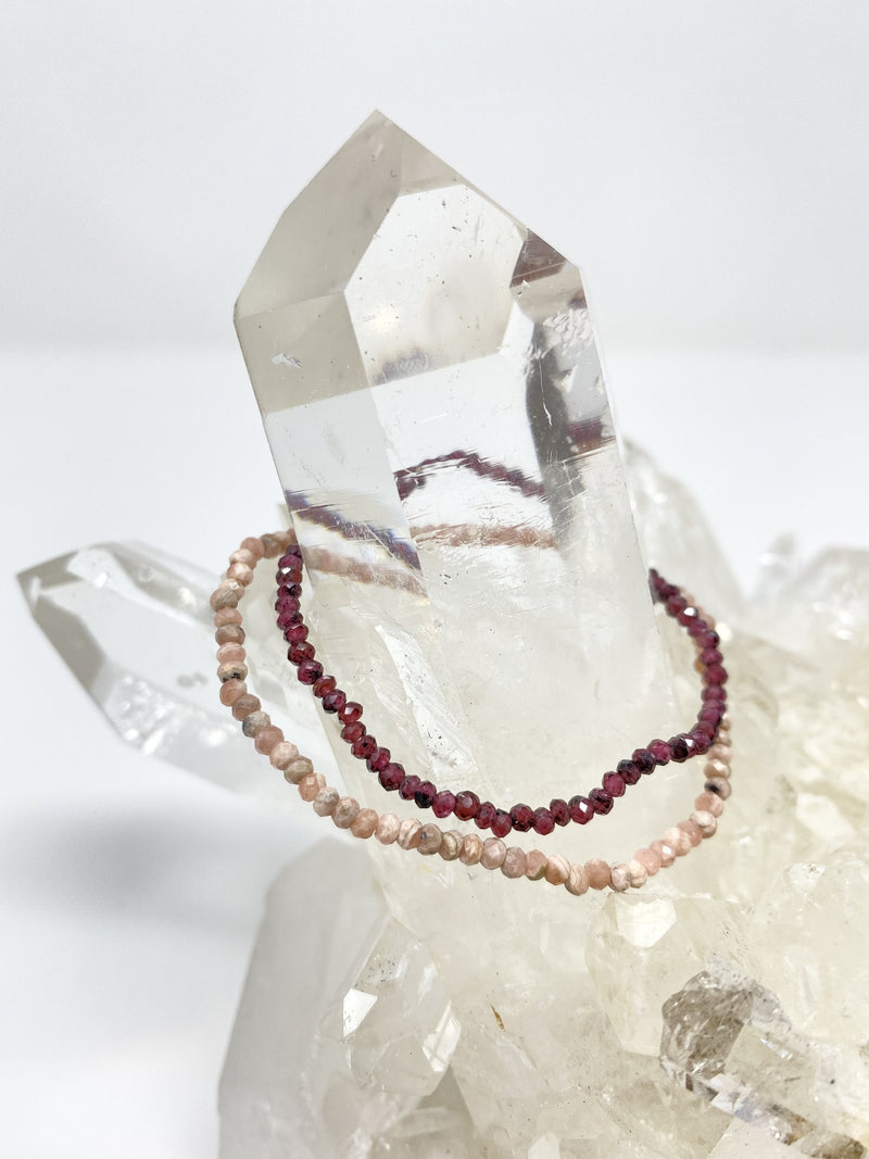 Valentine's Day Duo! Faceted Rhodochrosite and Garnet
