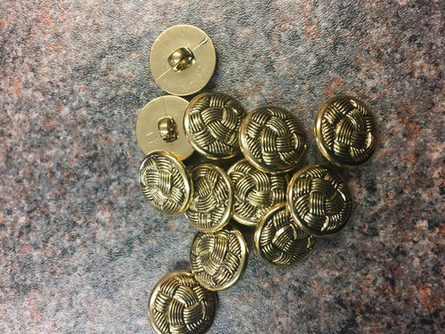 Gold round buttons