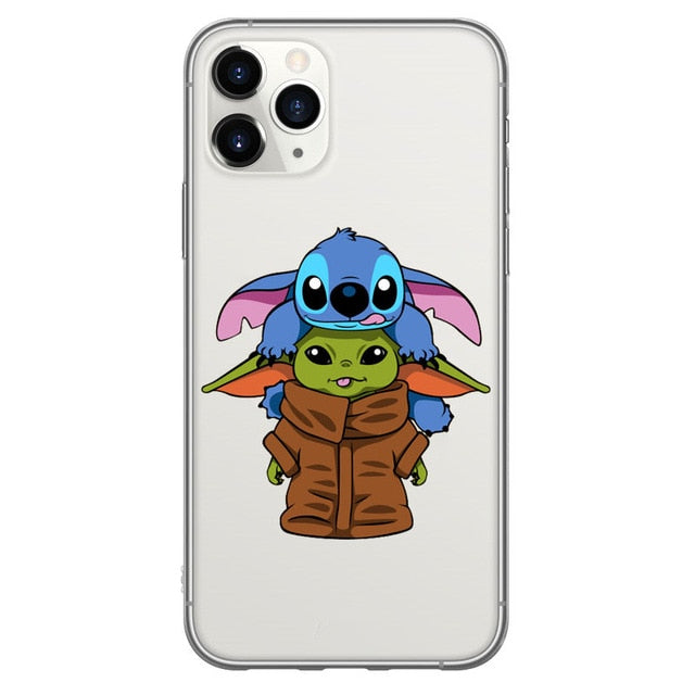 BABY YODA AND STITCH IPHONE