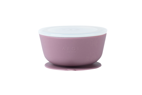 Plum Silicone Suction Bowl