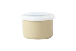 Beige ceramic container