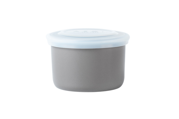Gray ceramic container