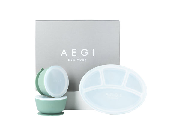 Sage Silicone Suction Gift Set