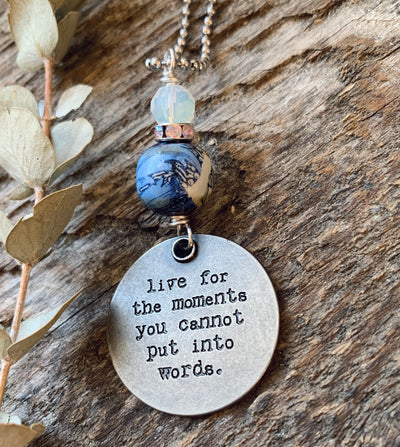 Moments Quote Necklace