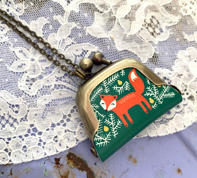 Woodland Fox Petite Purse Necklace