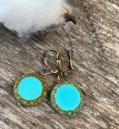 Czech Turquoise Earrings