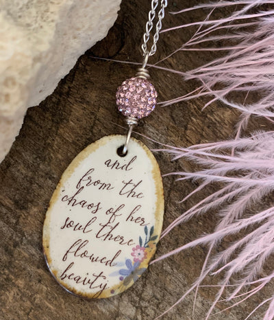 Beautiful Soul Quote Necklace