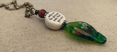 Glorious Mess Quote Necklace