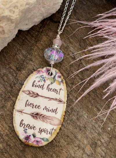 Kind Heart Quote Necklace