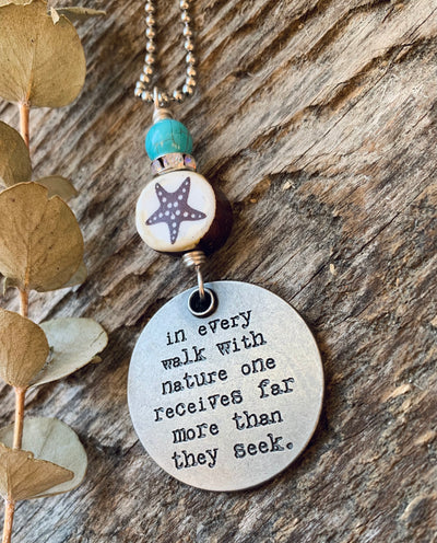Starfish Quote Necklace