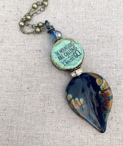 Mountain Quote Necklace