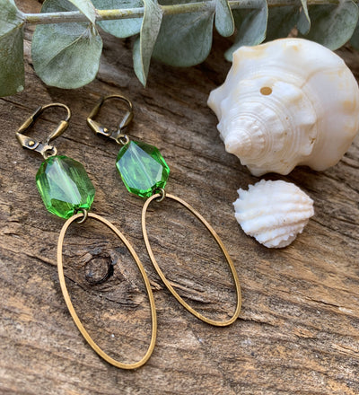 Peridot Calla Earrings