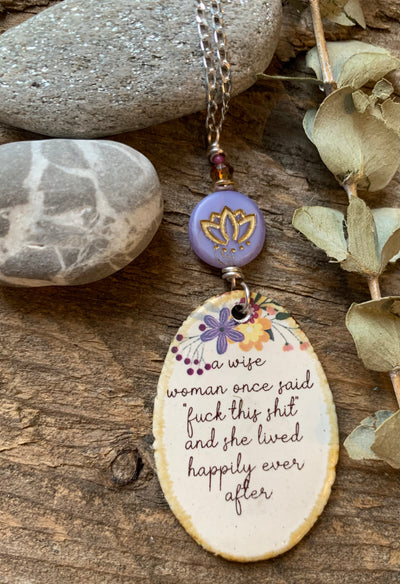 Wise Woman Sweary Quote Necklace