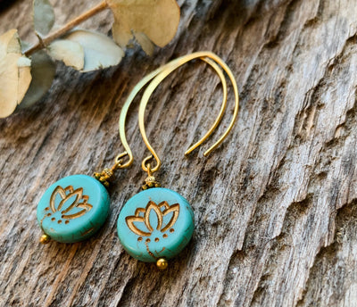 Lotus Arch Earrings