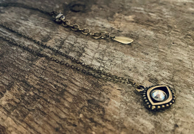 Silver Shade Evil Eye Necklace