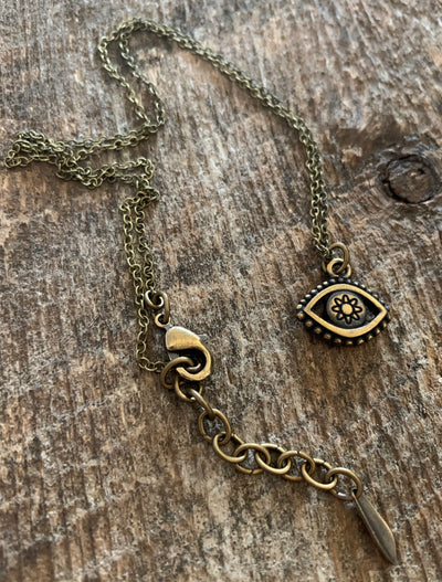 Pacific Opal Evil Eye Necklace