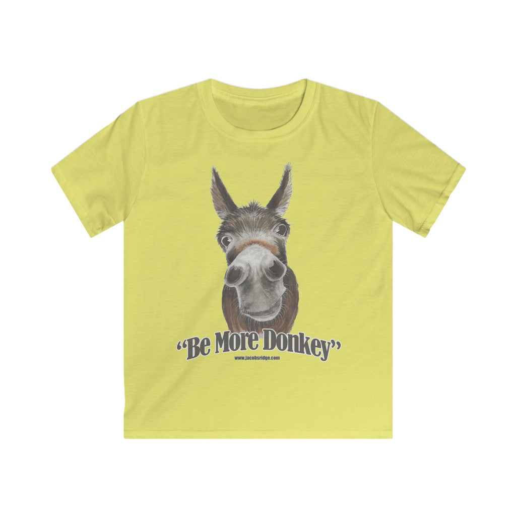 BE MORE DONKEY Kids Softstyle Tee