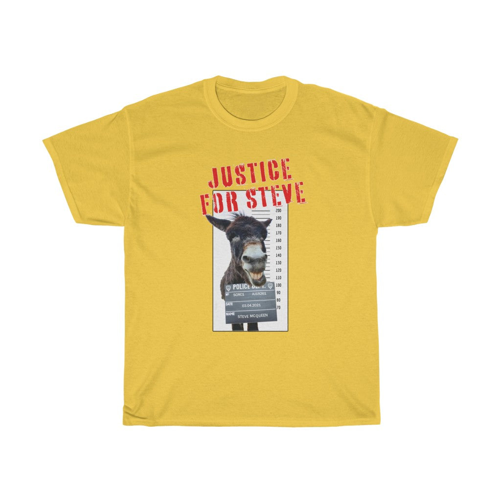 USA JUSTICE FOR STEVE Unisex Heavy Cotton Tee