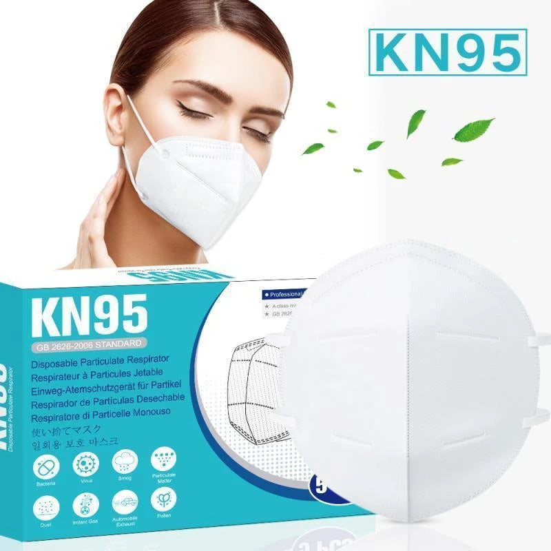KN95 Disposable Protective Face Mask - 10 pcs Face Mask CE Certified |  GB2626 Standard | PRE-ORDER