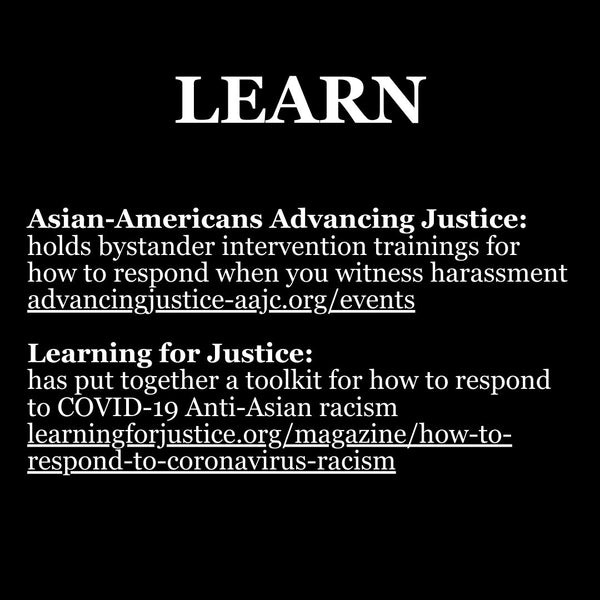 Learning resources to Stop Asian Hate
