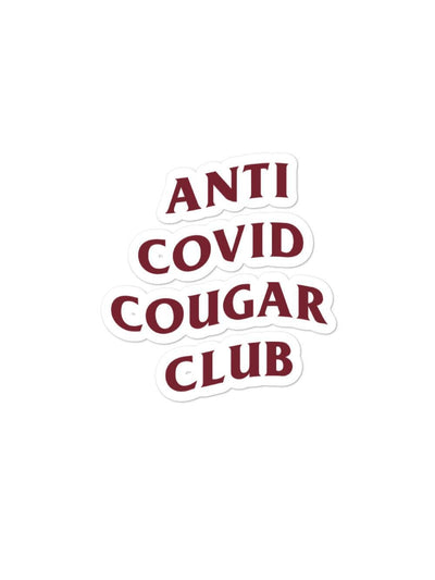 COFC Cougars Anti Covid Cougar Club Sticker - Geistwear