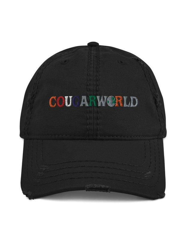COFC Cougars Cougarworld Embroidered Distressed Dad Hat - Geistwear