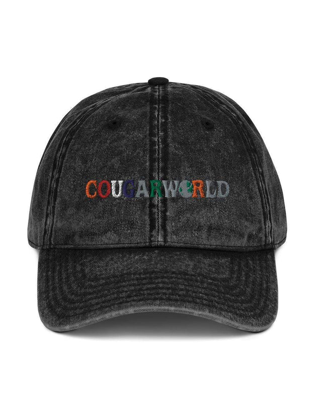 COFC Cougars Cougarworld Embroidered Vintage Hat - Geistwear