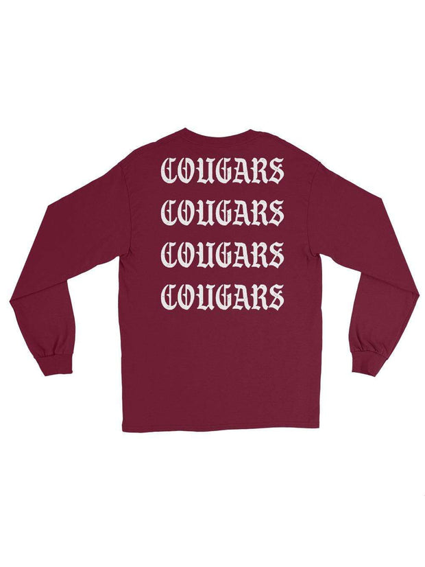 COFC Cougars I Feel Like Sleeping Longsleeves T-Shirt - Geistwear
