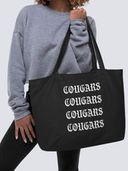 COFC Cougars Large Organic Reusable Tote Bag - Geistwear