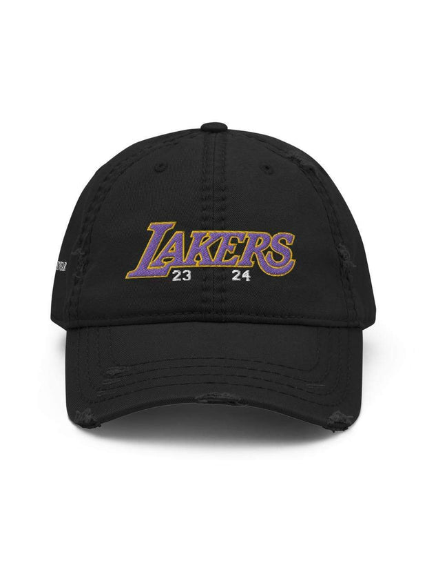 LAKERS MAMBA Distressed Dad Hat - Geistwear