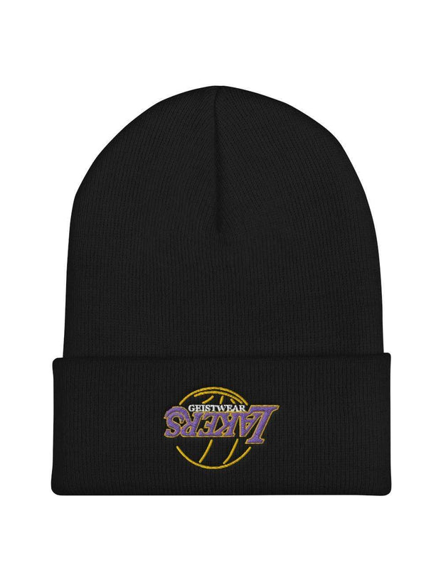LAKERS NEON Embroidered Beanie - Geistwear